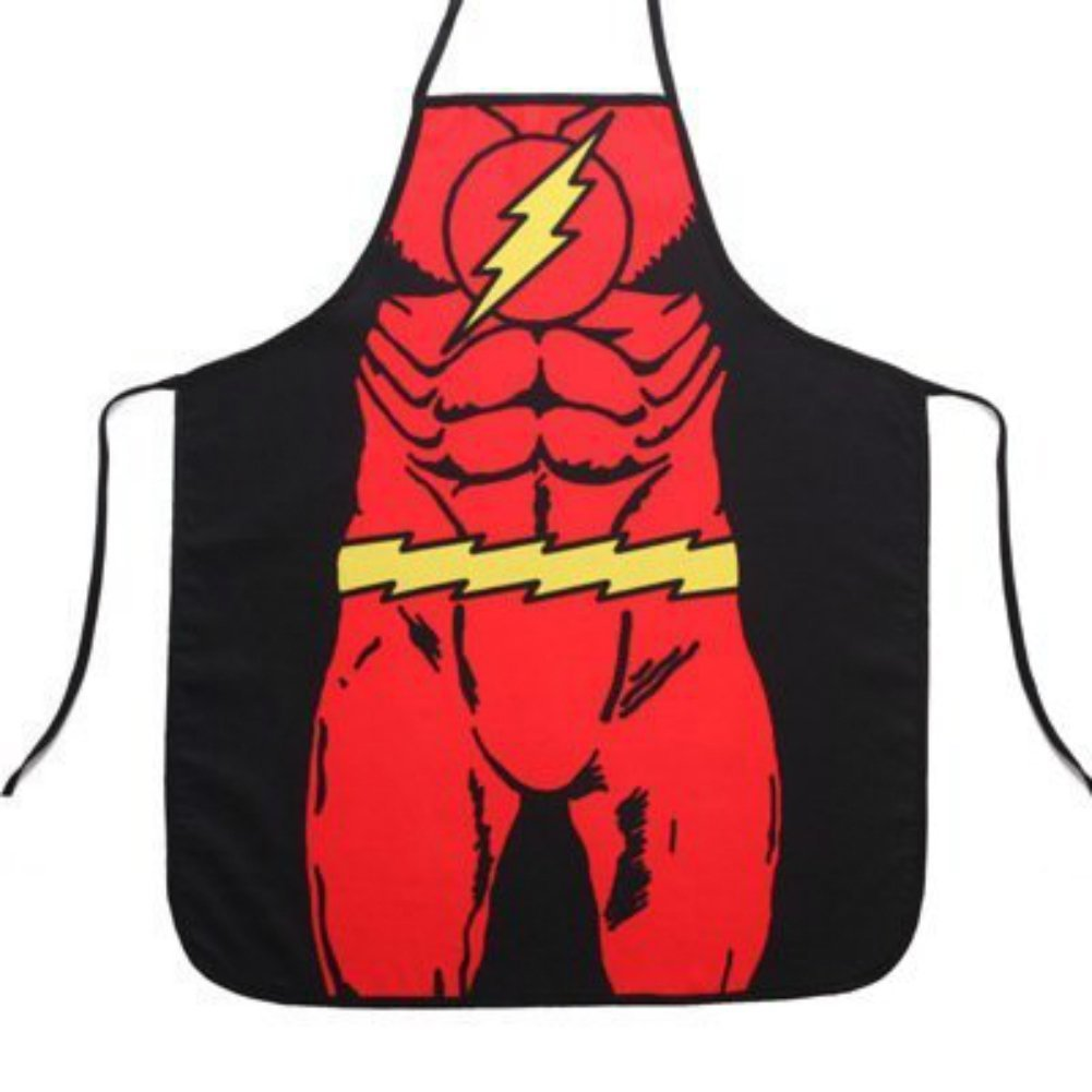 DC Comics Justice League The Flash Superhero Apron (Youth/Petite/Child) (With Gift Box!)