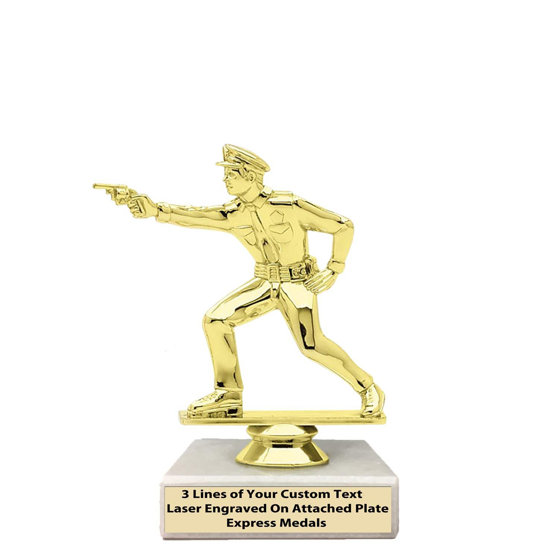 エクスプレス メダル 2位 3位 50個パック 優勝 チャンピオン 警察官 トロフィー 本物の大理石ベース 刻印入り パーソナライズプレート 143 B07KV51VQ7  50