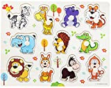 Wooden Animals Jigsaw Puzzles, Moonvvin Fancy Education And Learning Intelligence Puzzles Toys for Toddlers Kids Children Up 3 Years