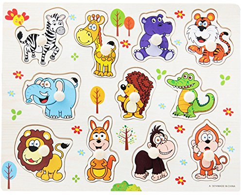 Cute animals puzzle for kids