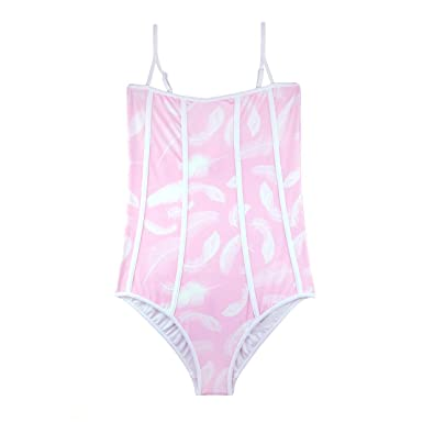 7c37c2b6f5 Image Unavailable. Image not available for. Color  Stella Cove Light Pink  Swimsuit for Girls