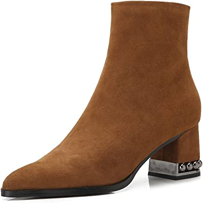 Ladies Brown Suede Ankle Boots