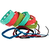 Mosquito Repellent Bracelet 9pcs,100% All Natural Plant-Based Oil, Non-Toxic Travel Insect Repellent, Safe Deet-Free Band,Soft Super microfiber Material Protection Outdoor and Indoor,for Adults & Kids