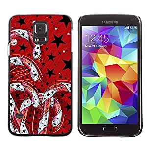 YOYO Slim PC / Aluminium Case Cover Armor Shell Portection //Christmas Holiday Red Candy Decorations 1094 //Samsung Galaxy S5