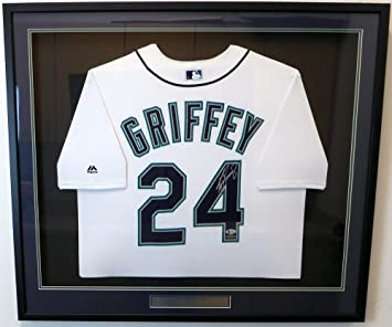 3c5c8941e Image Unavailable. Image not available for. Color  SEATTLE MARINERS KEN  GRIFFEY JR. AUTOGRAPHED FRAMED WHITE ...