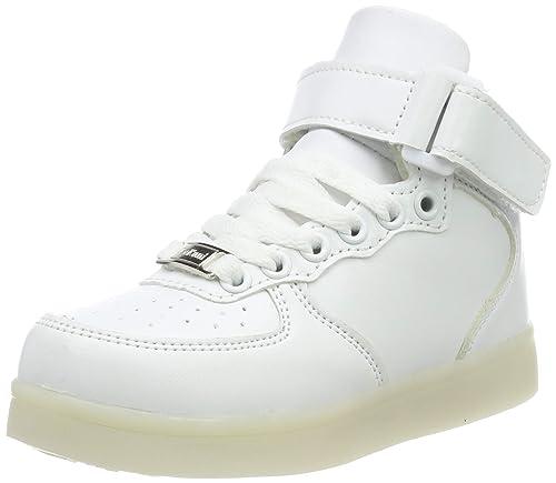 LeKuni Zapatillas con Luces LED 7 Colores USB Carga Luz Luminosas Flash Zapatos de Deporte para
