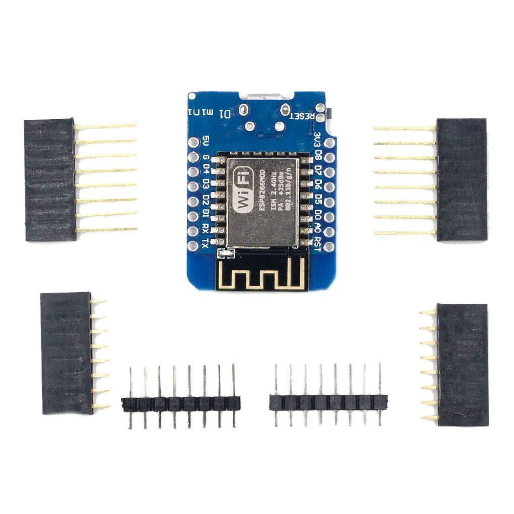 F-blue ESP8266 ESP-12 D1 Mini-Modul NodeMcu Basierend auf ESP-8266EX Lua WiFi Development Board Micro USB 3.3V Basierend auf ESP-8266EX 11 Digital-Pin