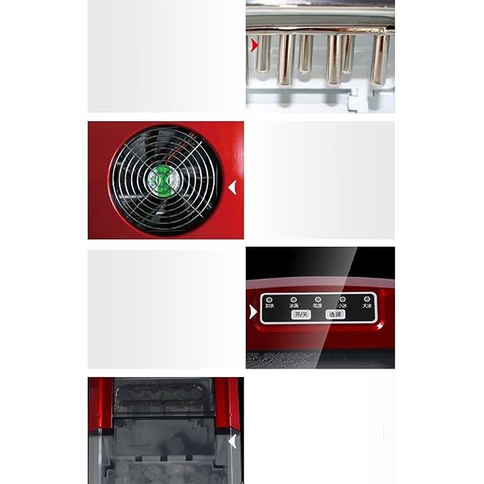 Eiswürfelmaschine Nan automática Inteligente Heladera Silencioso Redondas - Heladera con Gran Capacidad 2.2L Tanque de Agua 15 ㎏ Hielo Eléctrica: Amazon.es