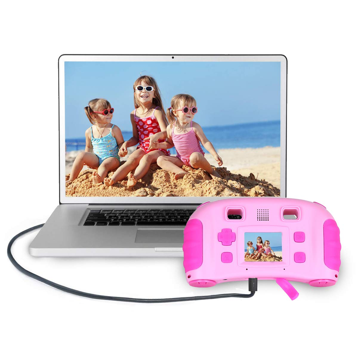bouti1583 Digital Photo Video Cameras with Games 1.77'' LED Screen for Kids Toy by bouti1583 (Image #4)