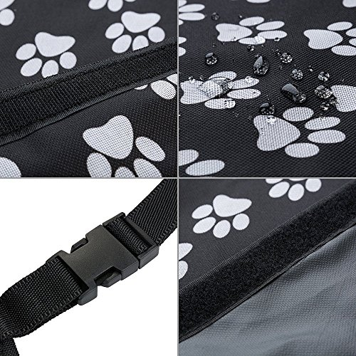 HCMAX Dog Vehicle Cargo Liner Cover Pet Seat Cover Bed Floor Mat Nonslip Waterproof Universal for Car SUV Truck Jeeps Vans Paw Prints by HCMAX (Image #4)