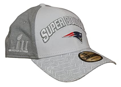 9b93aa6eb6e ... discount new era new england patriots super bowl lii bound 9forty  adjustable hat white gray 74d3f