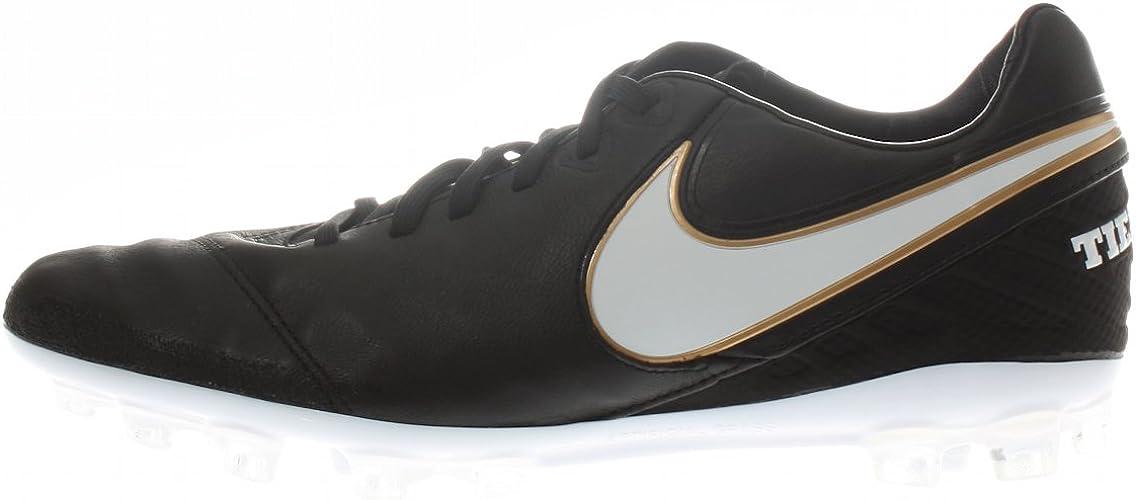nueva temporada Para estrenar venta limitada Nike Men's Tiempo Legacy II AG-R Football Boots, (Noir/Blanc-doré ...