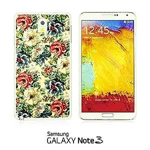 OnlineBestDigitalTM - Flower Pattern Hardback Case for Samsung Galaxy Note 3 N9000 - Vintage Floral Fabric