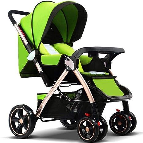 Opinión sobre G.Z Cochecito de bebé de Alto Paisaje, aleación de Aluminio Sentado de Dos vías Asiento de bebé reclinado, Ultra Light Portátil Portátil Choque Bebé Carro de Cuatro Ruedas (Color: Verde)