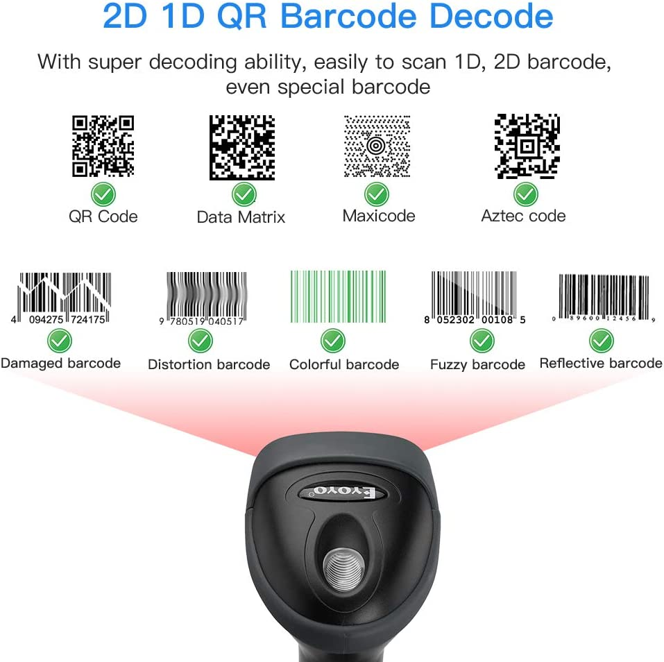 Warehouse Convenience Store Supermarket Eyoyo Wired USB 2D Barcode ...