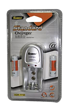Konnoc KCR1112 - Cargador + (2 x pilas AA de 2500 mAh)
