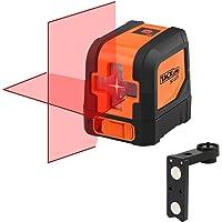 Tacklife SC-L01 Laser a Croce Autolivellante Misuratore a Infrarossi Orizzontale e Verticale, Arancione/Nero