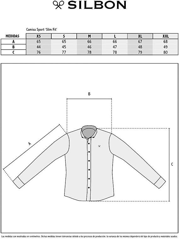 SILBON - Camisa Sport Cuadro Preppy para Hombre: Amazon.es ...