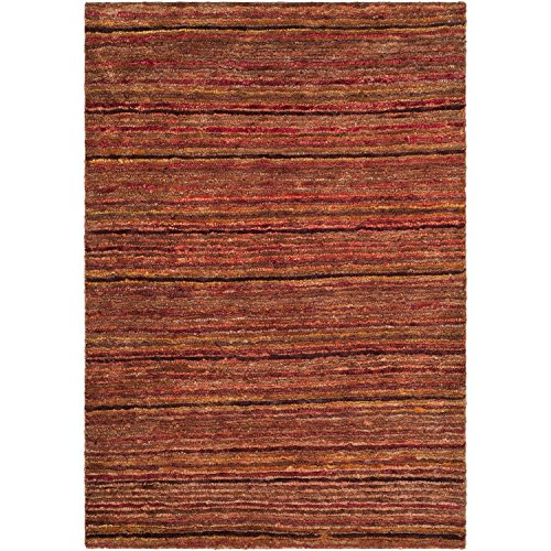 (Safavieh Organica Collection ORG212A Hand-Knotted Red and Multi Wool Area Rug (4' x)