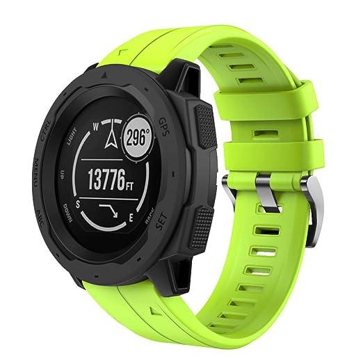para Instinto Garmin,Banda Reemplazo de Silicona Suave Deportiva Correa de Reloj de Correa de Repuesto de Silicona de liberación rápida: Amazon.es: Relojes