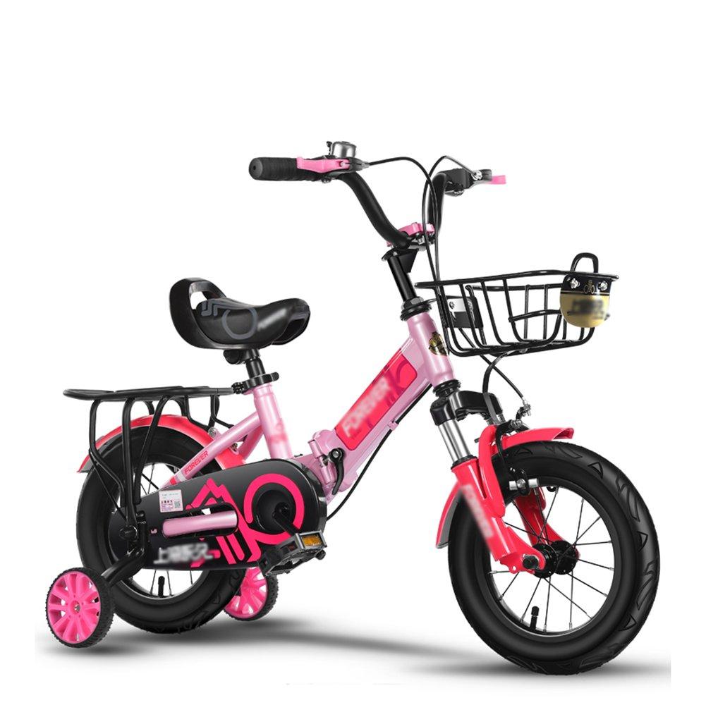 子供の自転車の男の子のベビーカー折りたたみ衝撃吸収自転車の女の子の赤ちゃんのペダル3-10歳のピンクブルーシルバーレッド B07DV37PSK 18 inch|シルバー しるば゜ シルバー しるば゜ 18 inch
