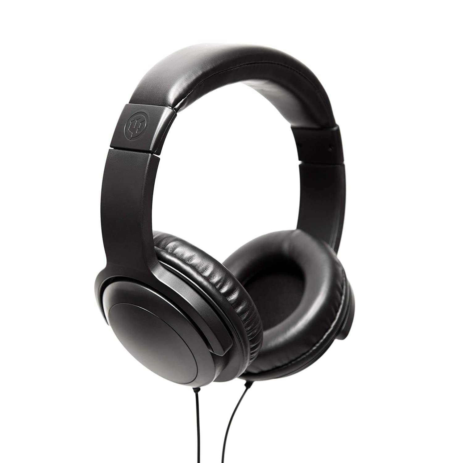 Wicked Audio Artifact Over Ear Headphones with Enhanced Bass, Black