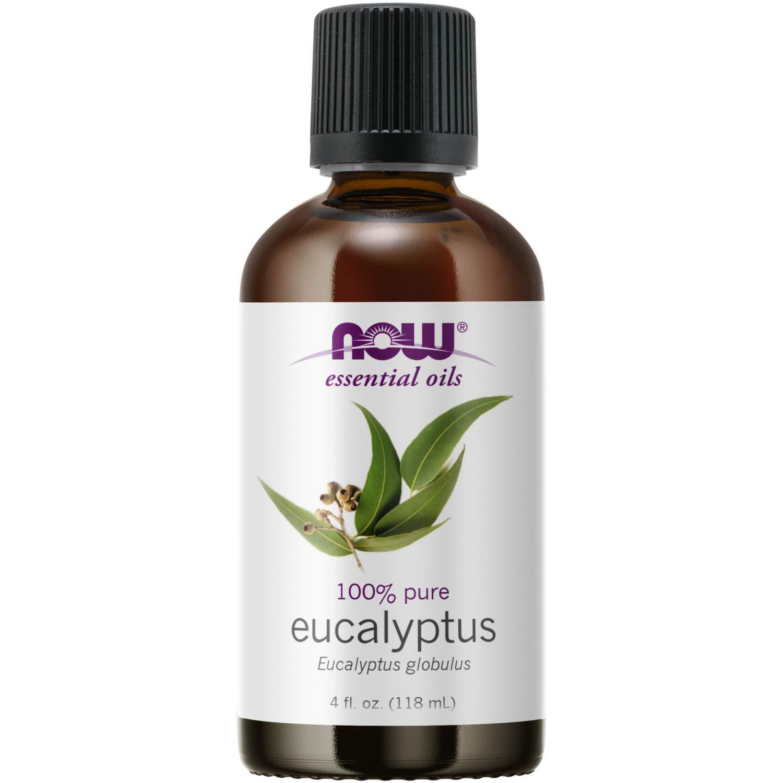 NOW Essential Oils, Eucalyptus Oil, Clarifying Aromatherapy Scent, Steam Distilled, 100% Pure, Vegan, 4 Fl Oz (1 Count)