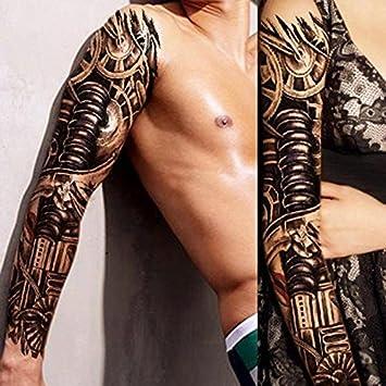222efc5ed 1pcs full arm mechanical gears and stuff tattoo sticker waterproof  temporary tattoo sleeve men women body paint water transfer fake tatoo  sleeve: Amazon.ca: ...