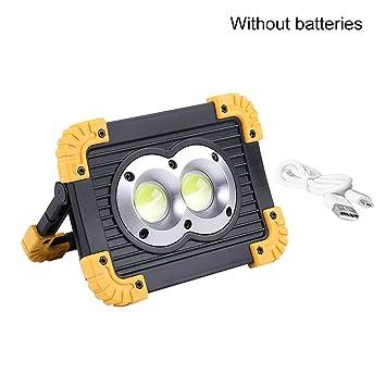 Proyector portátil LED Luz de trabajo LED Batería recargable 18650 ...