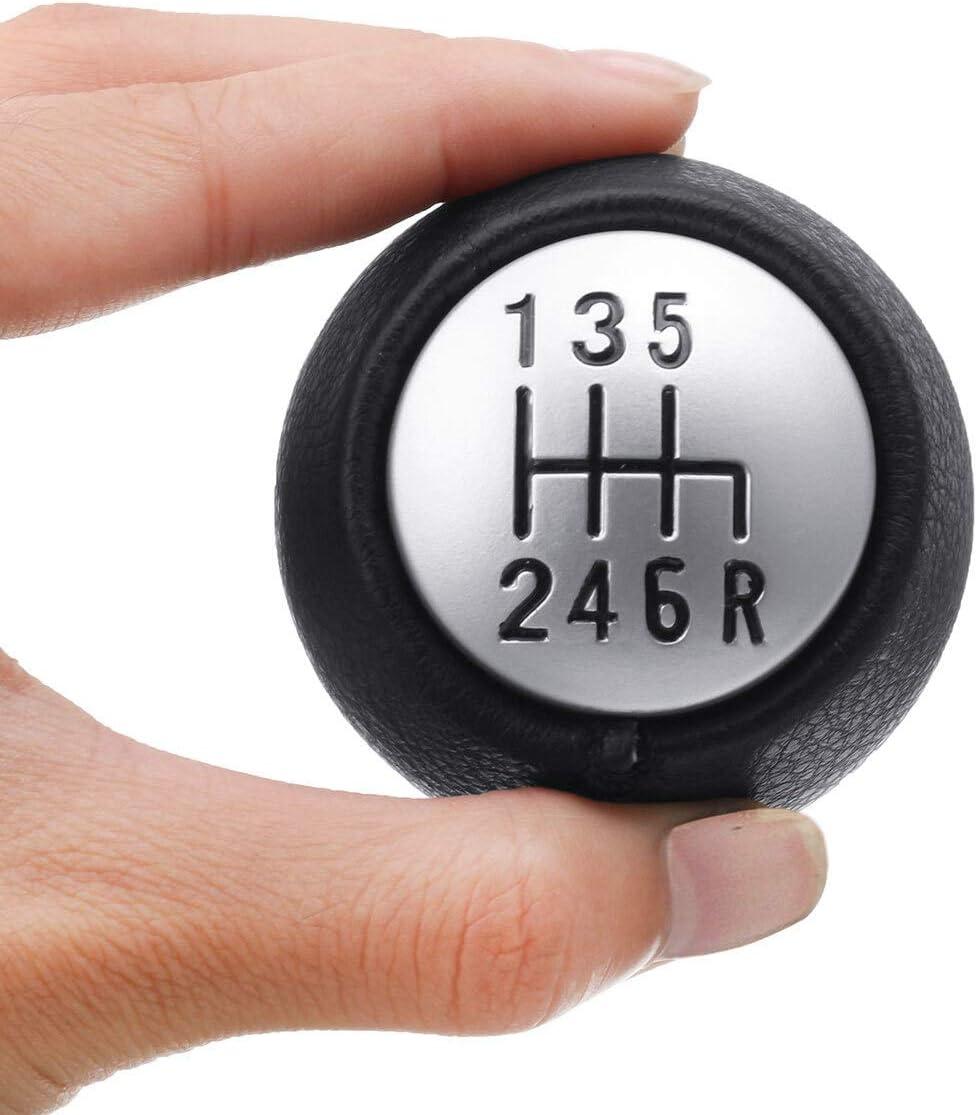 Color Name : 5 Speed Pommeau de levier de vitesse 5 6 vitesses en cuir PU Manuel POMMEAU Poign/ée /à levier Shifter Stick for Alfa Romeo GT 147 166