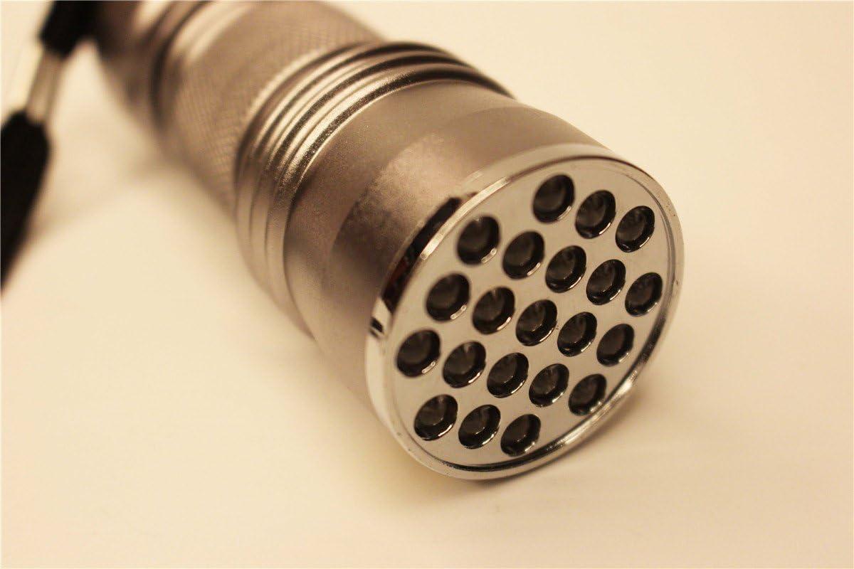400/nm /étanche 21/LED Lampe de poche lumi/ère noire Ultra Violet lampe Bison Colle Polym/ériser UV 395