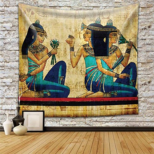 Wall Hanging Tapestry Backdrop Cloth Egypt Egyptian Character Home Dorm Living Room Guest Room Decoration HYC02-B-US