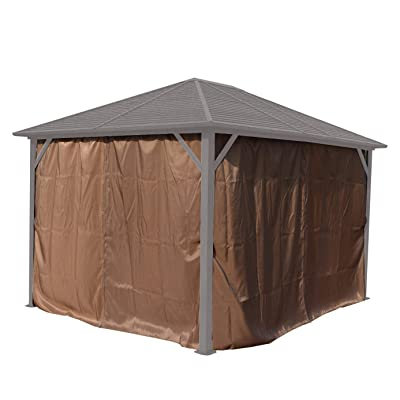 Kozyard Gazebo Privacy Sidewall (Caesar, Rosana and Alexander 10'x12' Hardtop Aluminum Permanent Gazebo) : Garden & Outdoor
