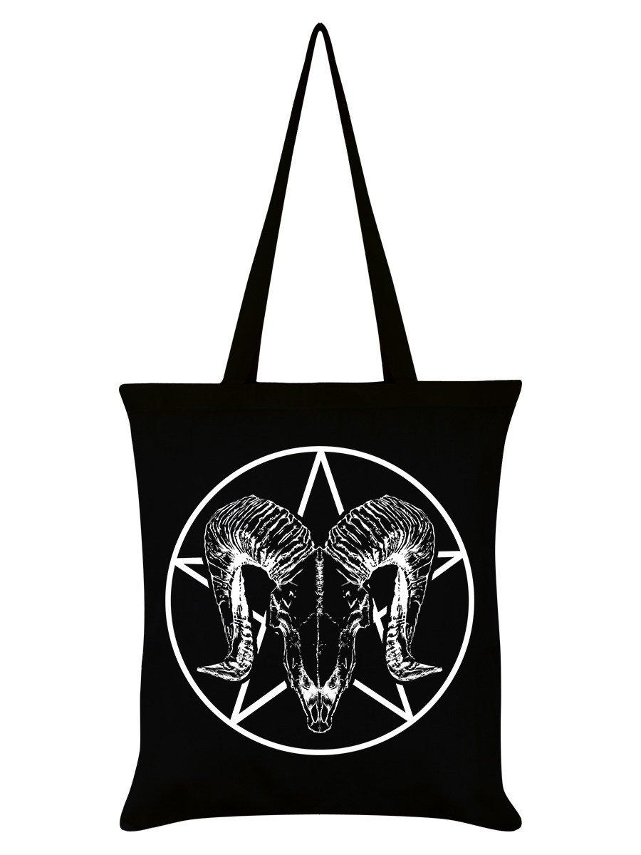 Grindstore Fourre-Tout Ram Skull Pentagram 38 x 42 cm Noir