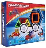 Magmagic Building Block Magnetic Toys, 38 Piece Versatility Vehicle Kit, Preschool Skills Educational Game Construction Stacking Sets