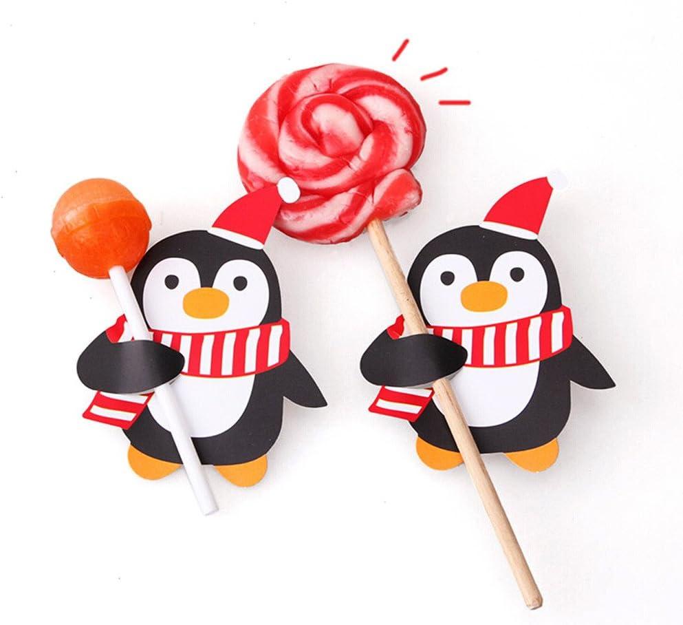 Chupete de Papel para decoración de Chupete, Tarjetas de pingüino ...