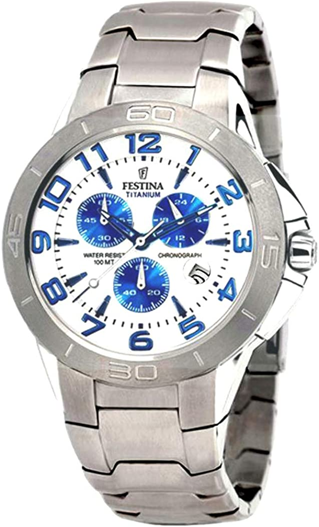 Reloj Festina F17603/1 de Titanio con cronógrafo y Calendario