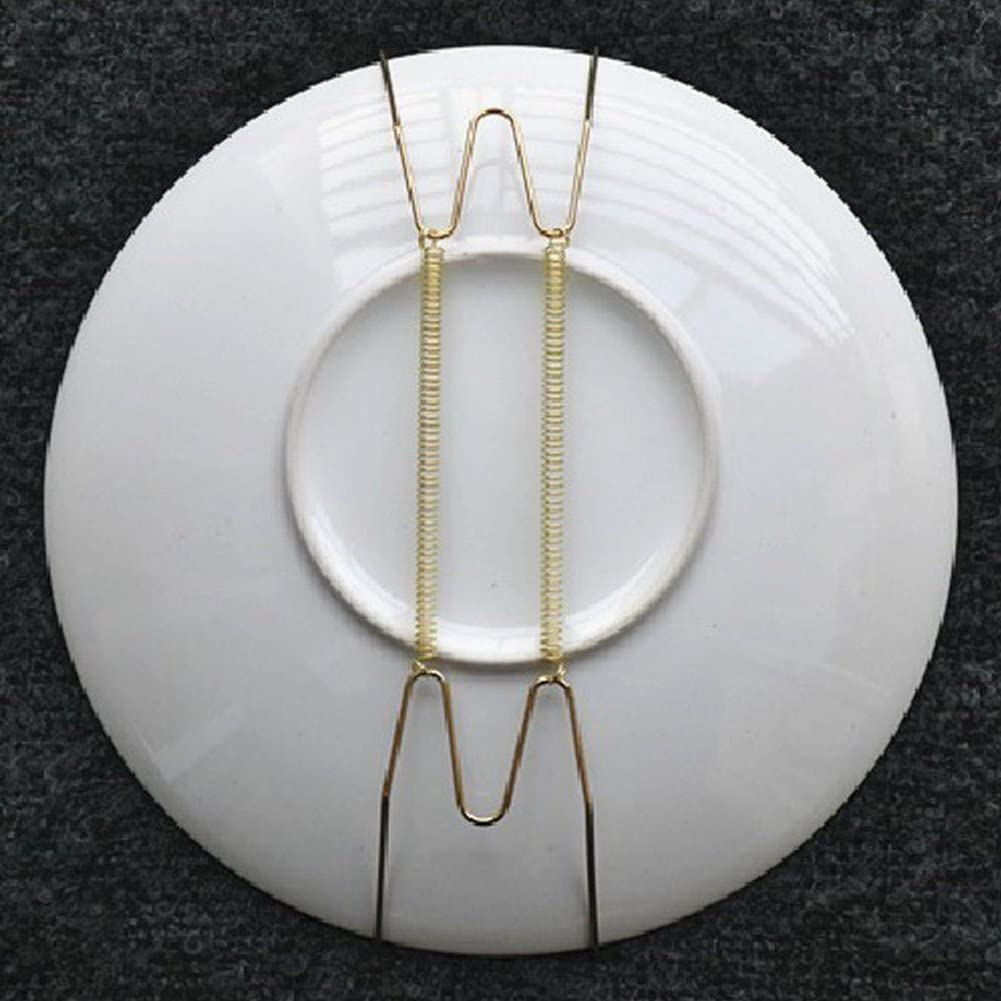 2 Pieces Wall Plate Hanger Decorative Dish Holder 8Inch//10Inch//12Inch//14Inch//16Inch Invisible Plate Dish Hanger Wall Display Hooks Home Decor 12 Inch