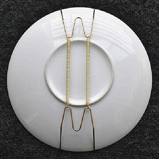 Amazon.com: Plate Dish Hangers Holder For Disc Dish Holder Wall Mounted Display Home Decor 8-16 inch(#5): Home & Kitchen