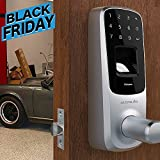 Ultraloq UL3 Fingerprint and Touchscreen Keyless Smart Lever Door Lock (Satin Nickel)