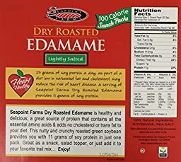 Seapoint Farms Edamame Dry Roasted Lightly Salted, 8 - 0.79 oz Snack Packs (6.35 oz Net Wt.) - Pack of 2