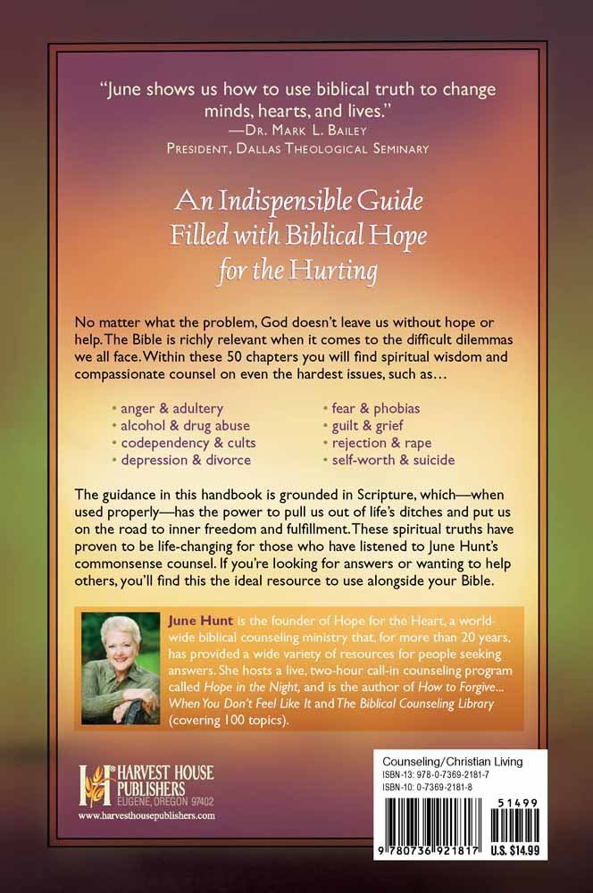 counseling through your bible handbook providing biblical hope and rh amazon com Addiction Counseling Professional Counseling