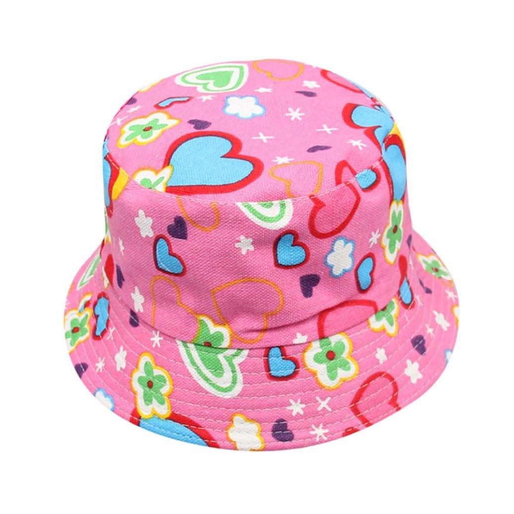 Chapeau Fille, Covermason Bébé Filles garçons Tout-petit Des gamins Soleil Casquette Été soleil plage chapeau extérieur Chapeau en coton de plage