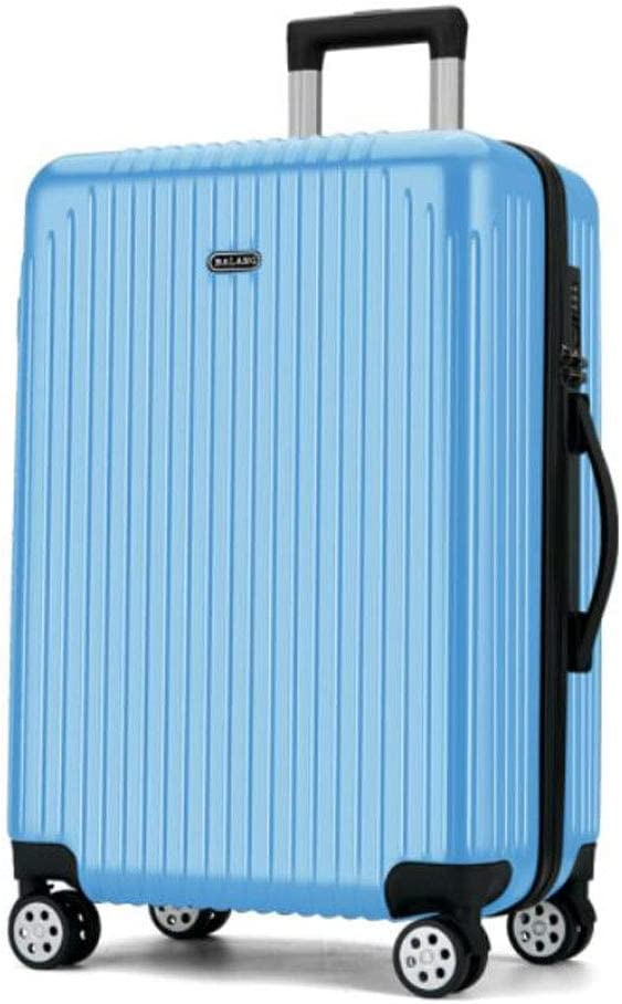 37 22 57 Size Black Color : Light Blue, Size : 182527 inch cm Aishanghuayi Suitcase for Large Capacity Business Portable Hard Shell Rotating Suitcase