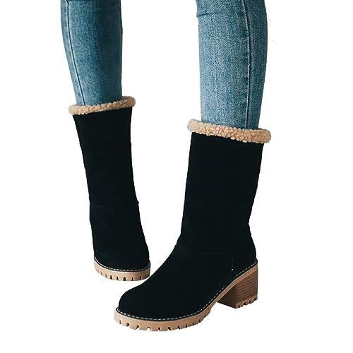 Black Fur Lined Boots: Amazon.com