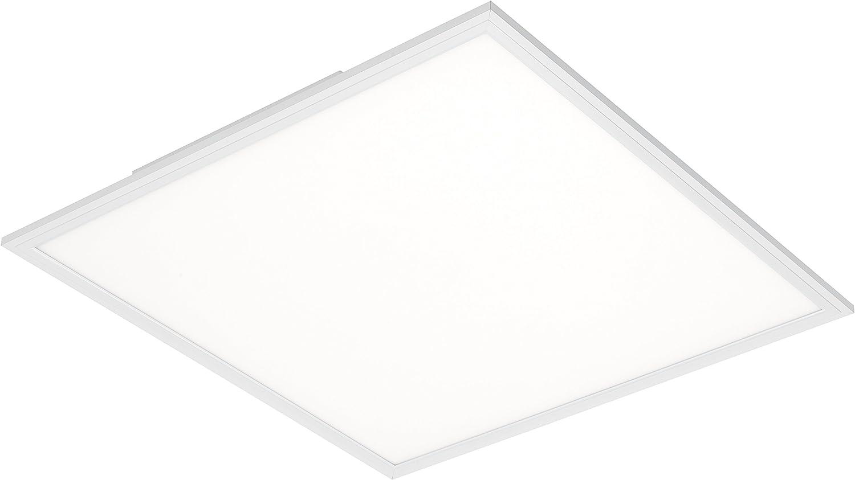 59.5 x 59.5 cm 38 W Briloner Leuchten LED Panel with Motion Daylight Sensor 4100 lumens Ceiling lamp White Ultra Flat Plastic L x B Square-Shaped