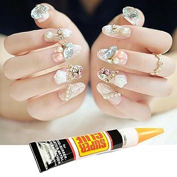Amazon.com: ProfessionaL Super Strong Nail Art Glue,Nail Tip Bond Glue Adhesive Perfect for False Acrylic Art Natural, Dimonties, Glitter, Rhinestones, ...