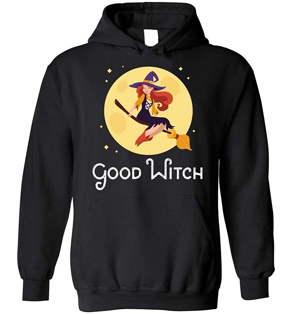 Funny Witch Gifts Blend Hoodie shopdoz Good Witch Halloween T-Shirt