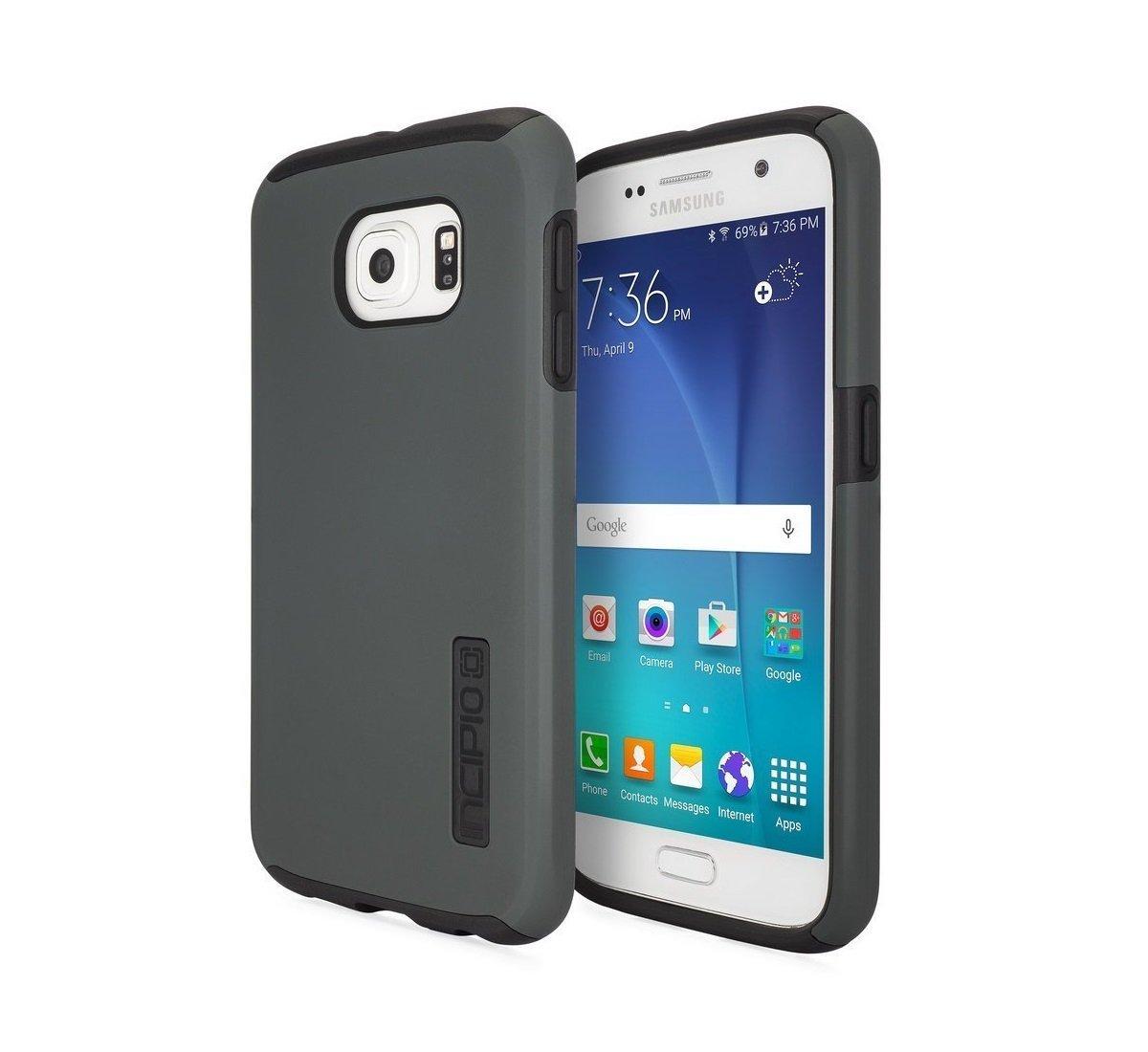 new concept e48dc 0cc1b Samsung Galaxy S6 Case, Incipio [Shock Absorbing] DualPro Case for Samsung  Galaxy S6-Black/Black