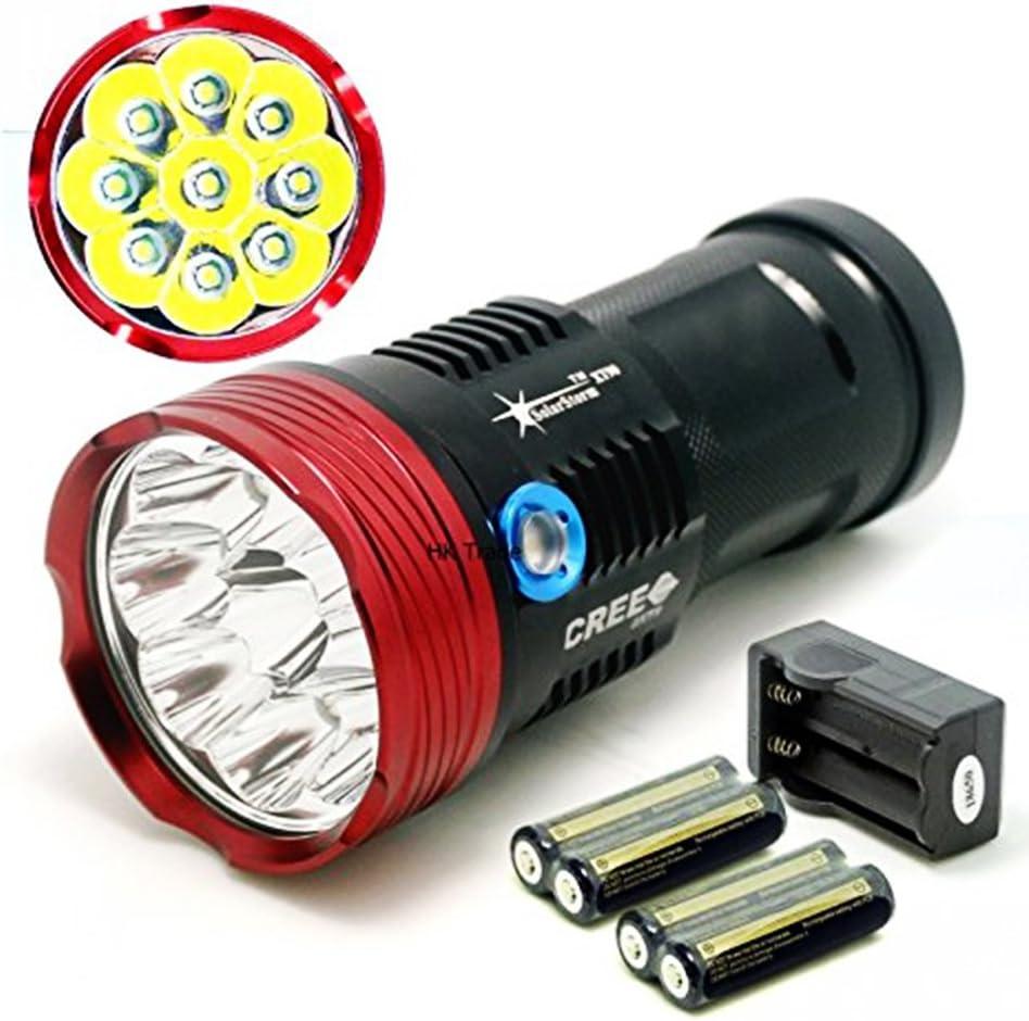 Lampe de poche rechargeable LED lampe torche XML T6 4000 lumens 18650 batter VB7